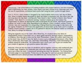 Rainbow Behavior Clip Chart