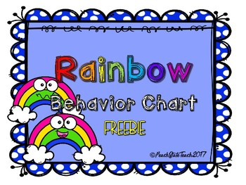 FREE Rainbow Behavior Clip Chart