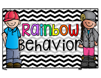 Rainbow Behavior Clip Chart & EXTRAS!