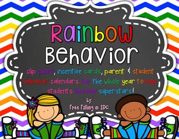 Rainbow Behavior Clip Chart & EXTRAS!