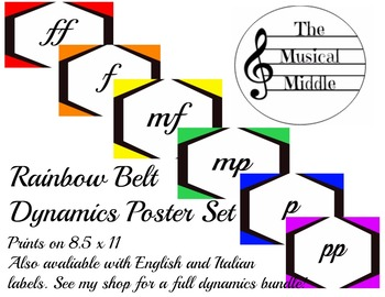 Dynamics Poster Set: Rainbow Belt (no definitions)