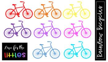 Rainbow Bicycle Clip Art