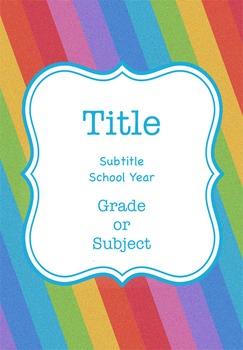 Rainbow Binder Cover {Editable}