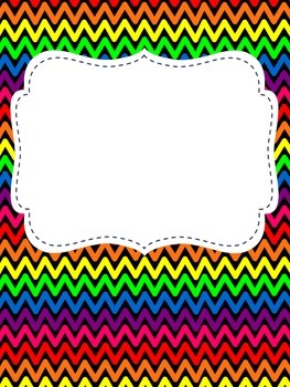Rainbow Binder Covers