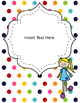 Rainbow Binder Covers & Spines EDITABLE {Stripes and Dots}