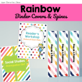 Binder Cover Printables -- Rainbow Stripes and Dots Edition