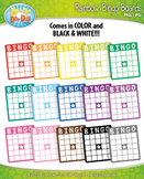 Rainbow Bingo Card Clipart {Zip-A-Dee-Doo-Dah Designs}