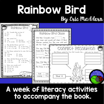 Rainbow Bird by Eric Maddern  ~ A week of reading activities