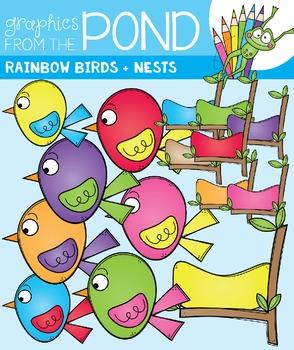Rainbow Birds Clipart