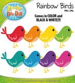 Rainbow Birds Clipart {Zip-A-Dee-Doo-Dah Designs}