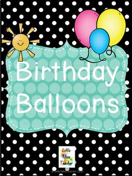 Rainbow Birthday Balloons Display