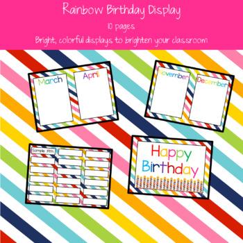 Rainbow Birthday Display