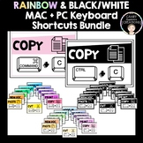 Rainbow & Black/White Keyboard Shortcuts (Mac & PC) Bundle