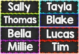 Rainbow Blackboard Classroom Labels {Editable}