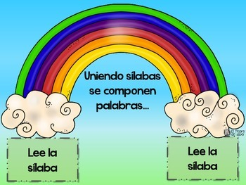 Rainbow Blending - Spanish Syllables & Words - Conciencia Fonética