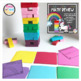 Test Prep: Rainbow Jenga Block Game Math Review
