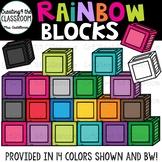Rainbow Blocks {Block Clipart}