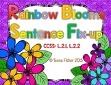 Rainbow Blooms Sentence Fix-Up