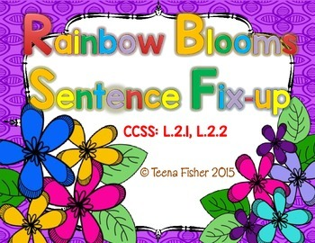 Rainbow Blooms Sentence Fix-Up