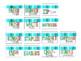 Rainbow Blue Teacher Toolbox Labels