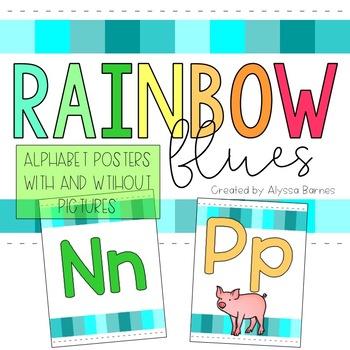 Rainbow Blues Alphabet Posters