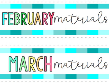 Rainbow Blues Monthly Labels