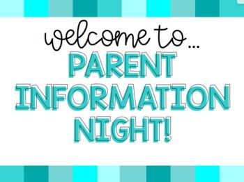 Rainbow Blues Parent Information Night Presentation