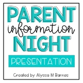 Rainbow Blues Parent Information Night Presentation