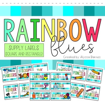 Rainbow Blues Supply Labels