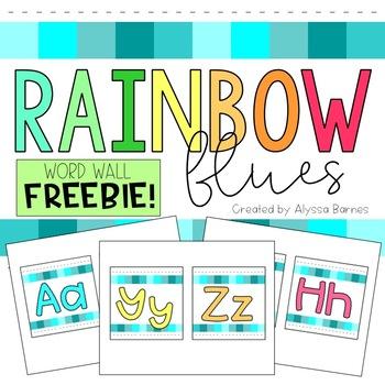 Rainbow Blues Word Wall FREEBIE!