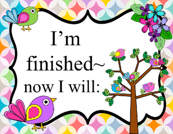 Rainbow Boho Birds I am finished~now I will: Posters