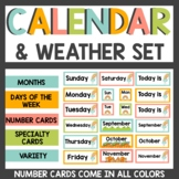 Rainbow Boho Calendar and Weather Cards