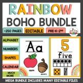 Rainbow Boho Classroom Decor Bundle