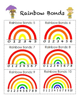 Rainbow Bonds: Number Bond Reference Sheet