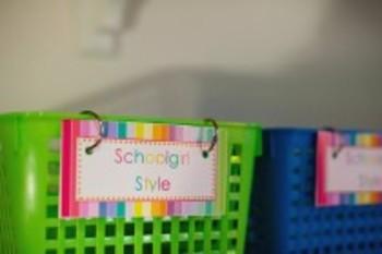 Classroom Decor Rainbow Book Basket Labels
