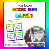 Rainbow Book Bin Labels