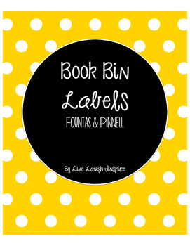 Rainbow Book Bin Labels, Fountas & Pinnell with No Clipart