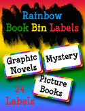 Rainbow Book Bin Labels for Your Classroom Library Including Editable Labels