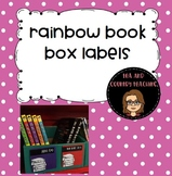 Rainbow Book Box Labels