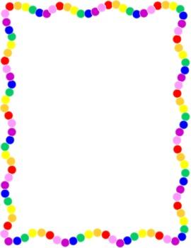 rainbow border by doodle art by jenny teachers pay teachers