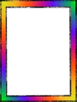 Rainbow Border By Shoshyart Teachers Pay Teachers