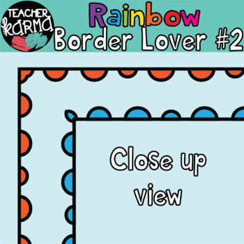 Rainbow Border Lover Set #2