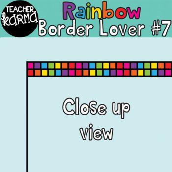 Rainbow Border Lover Set #7