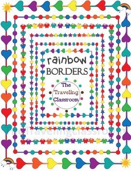 Rainbow Borders Clip Art