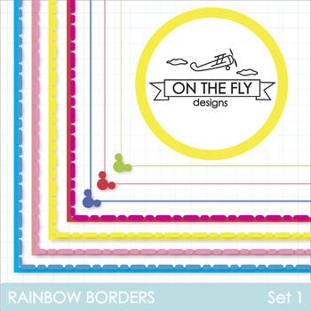 Rainbow Borders Clip Art {Freebie!}