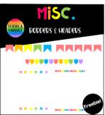 Rainbow Borders and Headers