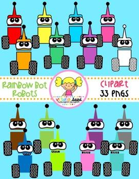 Rainbow Bot Robots Clipart