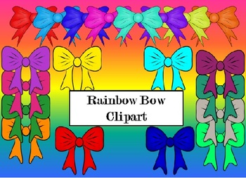 Rainbow Bows and Ribbons Clipart