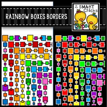 Rainbow Boxes Borders