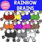 Rainbow Brains Clipart
